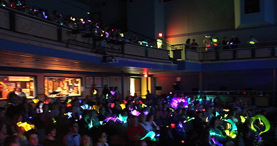 The glowing audience at Jim Horwich's band's performance in Falmouth, ME.