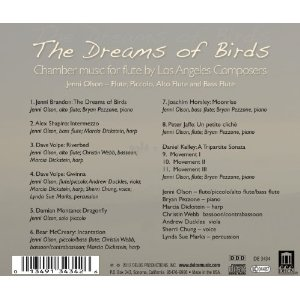 The Dreams of Birds CD- back cover