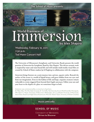 Immersion flyer