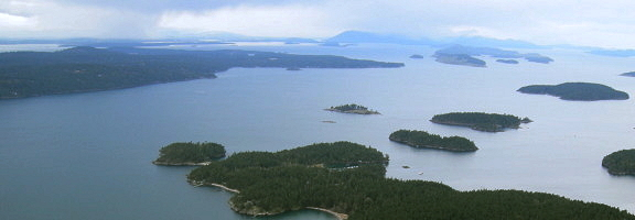 San Juan Islands, from above