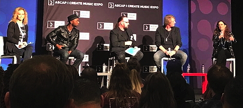 Alex and fellow panelists at 2017 ASCAP Expo