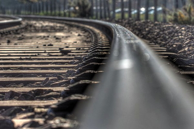 stock footage of train tracks, with thanks to the unknown photographer.